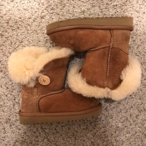 UGG Other - Kids toddler UGG brown boots with faux fur size 7